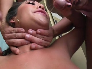 Sexy arse London gets her mouth filled with hard pecker and cum!