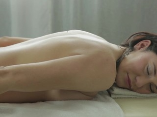 After having pestered her for two weeks straight, Gerta lastly assented to a massage movie scene...