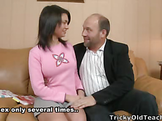 Insatiable hotty Sandra acquiesced to please her teacher's craving and after brutal fucking..