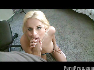 Cute Halie likes jumping on the trampoline as well as jumping on penis meat. This Babe has Large..