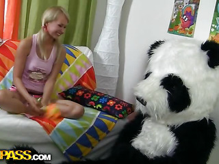 What would u do if your favourite panda teddy bear turned out to be alive and damn horny?..