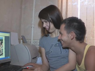 Having caught his legal age teenager girlfriend watching half-stripped pics from her ally's..