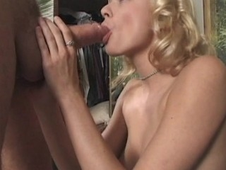 Vehement hotty stands in doggie getting banged from behind