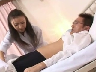 Shinobu Todaka gets felt out by a doctor here letting him mess with her lovely unshaved fur pie..