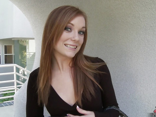 Dani Jenson is a hawt and horny redhead can't live without to engulf on large weenies and stuff..