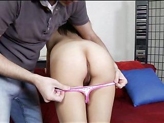 Pal stimulates clitoris of chick pushing rod inside of slit