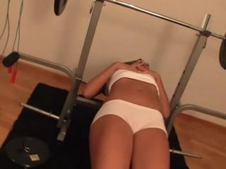 Blond locks herself inside gym to start cookie-stroking act