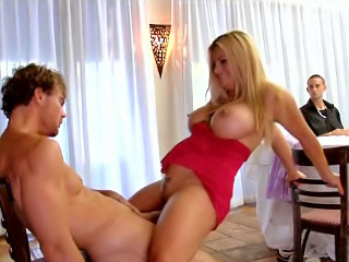White babe with very big boobs getting screwed hard and deep