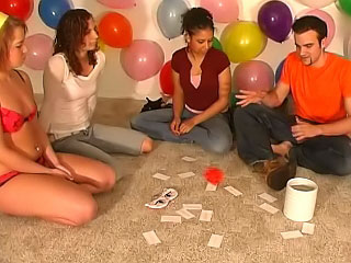 Gorgeous girls and guys have amateur a matter of joke party