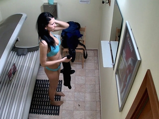 Here is the first hidden camera in solarium!! U havent seen this in advance of! We breached into..