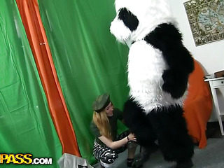 `What's the most good way to talk the panda bear to join the army? Maybe a sexy breasty teenage..