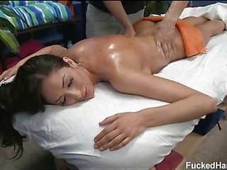 Those three beauties screwed hard by their massage therapist after getting a soothing rubdown