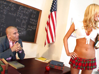 Victoria White is hawt for her teacher and that means a whole lot of chocolate hole action as..