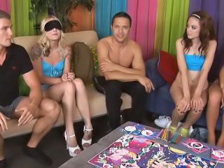 Wet horny and drunk girls get involved in wild groupsex orgy