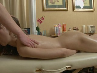 Bewitching darling is getting wild massage on her hawt body