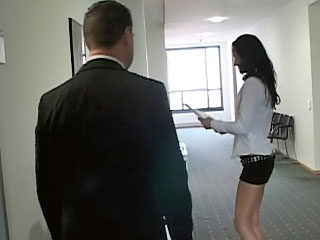 Naughty secretary with sweet arse getting screwed at office