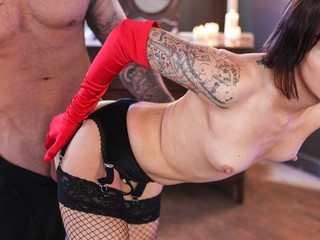 Tattooed chick eat inked jock and takes it unfathomable in slit.