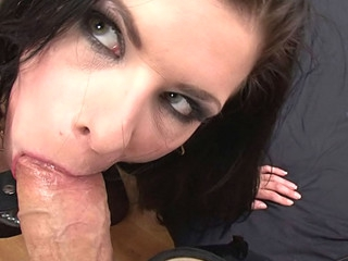 Slut Engulfing Rocco's 10-Pounder Whilst Getting Slut Slap