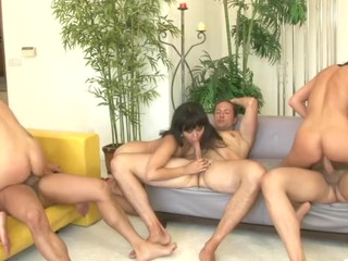 sexy, horny sluts take turn engulfing and fucking hard weenies!