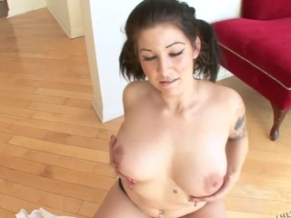 Tattooed Angel Blaze as a little POV fun with James Deen