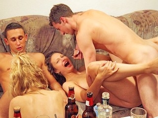 If those pretty party angels had an exam in anal fucking they would all get A+! Watch 'em in..
