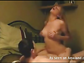 Fella stuffs moist hole of his cute girlfriend by his large dick