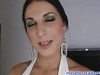 Racquel is a gorgeous twenty year old brunette hair, with all natural mounds and a tiny shaved snatch.  This Babe is a total rod engulfing freak, that can't appear to be to get sufficiently cum in her mouth. When u watch what that babe does to my dick u will understand. That Babe rode my penis like a pro and then I flipped her over and stretched her wet crack good. We had a banging good time and that babe swallowed a sticky load.